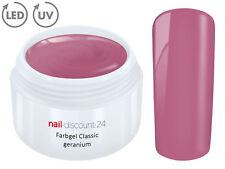 Color UV Gel LED FARBGEL GERANIUM French Modellage NailArtDesign Nagel Lila Tips