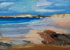Original Oil Painting, Listed Artist W. Holland 5x7 Inches Seascape