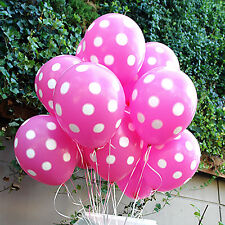 20X Pink Polka dots Latex Balloons Minnie Mouse Party Supplies Birthday Wedding