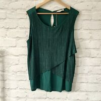MARKS AND SPENCER Top Size UK 16 EMERALD GREEN | Smart CASUAL Work Office NEW