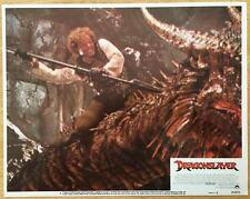 Dragonslayer Peter MacNicol w/spear sword sorcery fantasy 1981 #4 lobby card 454