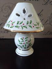 Lenox Holiday Tea Light Lamp Holly Berry Design New Old Stock