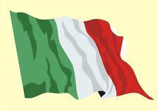 Autoaufkleber Sticker Fahne Italien Flagge Aufkleber