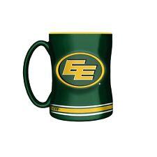 Edmonton Eskimos Primary Logo Green CFL Football 14oz Sculpted C-Handle Mug Milk