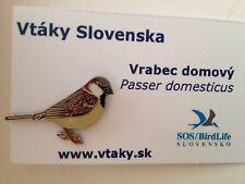 HOUSE SPARROW SOS/Birdlife slovak  Enamel Pin Badge Passer domesticus