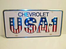 NOVELTY TIN LICENSE NUMBER PLATE chevrolet -usa 1 (F3