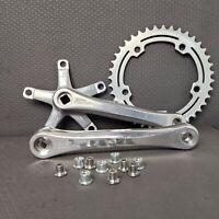 SR Super Custom Crank BMX Lot 40T Chainring 170mm Old School Bike Bolts Nuts