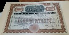 1927 Troy New York Stock Certificate Charles A Simmonds Tobacco Products Corp