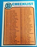 1973 Topps #453 CHECKLIST 397-528 **UNMARKED** U-PICK  5 Choices (EX-MT to NM)