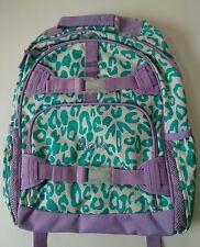 Pottery Barn Kids Teal & Purple Cheetah Large Mackenzie Backpack name ALANA New