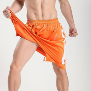 Fashion Hip Hop Open Crotch Shorts Mens Loose Sweatpants Dance Cool Sleep Shorts