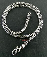 Königskette das Original 3mm 52cm Massiv Silber925 Balikette Balichain