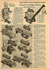 1956 ADVERT Toy Robert Robot Andy Gard Truck Cars Mickey Mouse Tow Dump Tonka