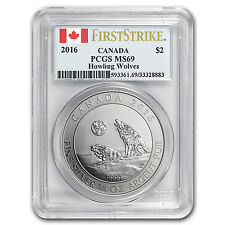 2016 Canada 3/4 oz Silver Howling Wolves MS-69 PCGS (FS) - SKU#95467