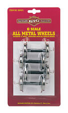 Bachmann 92421 G Scale Metal Wheel Set (4) - NEW Standard Large Size Fits LGB,