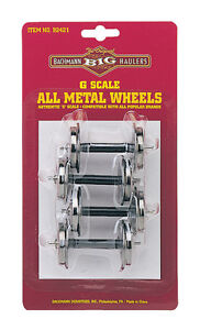 Bachmann 92421 G Scale Metal Wheel Set (4) - NEW Standard Large Size Fits LGB,