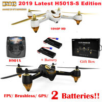 Hubsan H501SS X4 FPV Drone Brushless Motor1080P CAM Follow Me Auto-return GPS US
