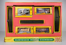 VINTAGE FLEISCHMANN HO SCALE 320/3G DIECAST 0-6-0 STEAM ENGINE & 3 FREIGHT CAR