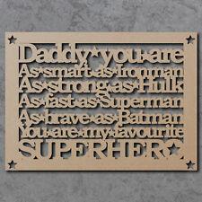 "Laser Cut /'Best Grande Nounou /""en bois MDF Craft Citation signe avec formes-A34"