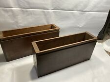 Set Of 2 Vintage Sewing Machine Cabinet Wood Drawers Singer Cabinet A1