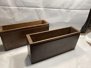 Set Of 2 Vintage Sewing Machine Cabinet Wood Drawers Singer Cabinet A1