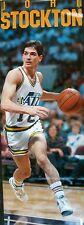 RARE JOHN STOCKTON JAZZ 1989 VINTAGE ORIGINAL DOOR SIZE NBA COSTACOS POSTER
