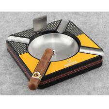 Cohiba Square Detachable Bowl Antislip Cigar Ashtray Cutter Metal 4 Slots