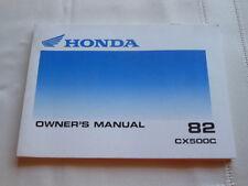 NOS Honda 1982 CX500C Owner's Manual # 3144903