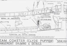 "STEAM COASTER ""CLYDE PUFFER"" SEALIGHT Model Boat Ship Plans"