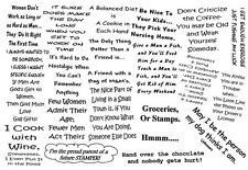 Unmounted Rubber Stamps Sheets, Humorous Sayings & Quotes, Friendship, Humor