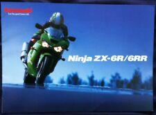 KAWASAKI NINJA ZX-6RR/ ZX-6R MOTORCYCLE SALES BROCHURE C2001