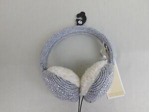 Michael Kors Pin Dot Stud Lurex Logo Earmuff Headphones - Grey #6572