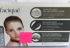 Facique 7 pc Dead Sea Salt Mud and Minerals Spa Treatment Mask Pack New Packs