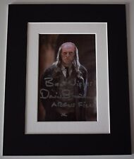 David Bradley Signed Autograph 10x8 photo display Harry Potter Film AFTAL COA