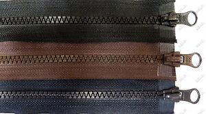 10er Pack YCC  Reißverschlüsse  Vislon  90 cm  2-Wege teilbar