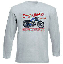 DUCATI 250 DIANA MARK 3 1964 - GREY LONG SLEEVED TSHIRT- ALL SIZES IN STOCK