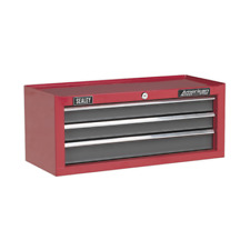 AP22309BB Sealey Add-On Chest 3 Drawer with Ball Bearing Runners - Red/Grey
