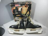 vintage 1980's CCM Rapide black men's size 4 ice hockey skates tempered blade