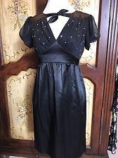 Betsey Johnson Silk 1940s Retro Dress