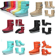 Women 's Warm Fleece Lined High Boots Waterproof Winter Thick Snow Shoes Boots