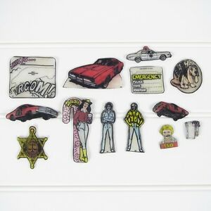 DUKES OF HAZZARD - VINTAGE 1980's COLORFORMS SHRINKY-DINKS -  LOT OF 13