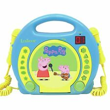 PEPPA PIG GEORGE CD PLAYER WITH MICROPHONES KARAOKE CHILDRENS PORTABLE