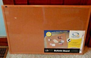 Cork Bulletin Board, 24 x 36 Oak Framed Notice Board Wall Mounted BRAND NEW