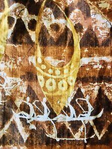 True Vintage Bark Cloth M Kurohara's Hawaiian Shirt🌺