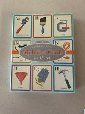 """eeBoo Alphabet Cards / Wall Art - Hardware Store Design Large 8x10"""" New In Box"""