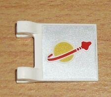 Lego Weltraum 1 Fahne / Flagge (2 x 2) mit Mondaufdruck
