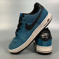Nike Air Force 1 Women's Shoes Size 4.5 Blue Flats Trainers EUR 37.5 Suede