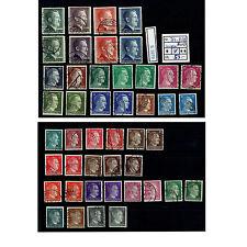 (E3979) DR Nr.781-802 A + B o Dauerserie mit teils fragliche Stempel