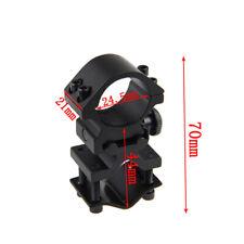 1X Montura Soporte Linterna Laser Para 25mm Acoplar Caza Airsoft Rifle Escopeta