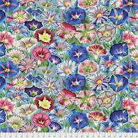 Variegated Morning Glory - Aqua by Kaffe Fassett for FreeSpirit 1/2 Yard Cotton